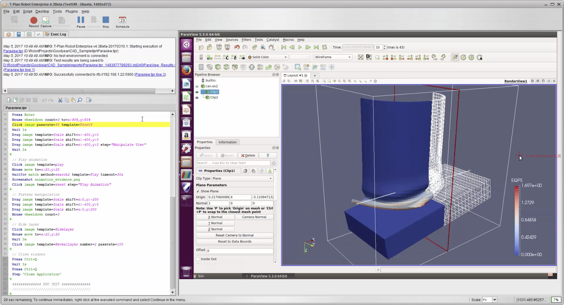 CAD Test Automation using Paraview